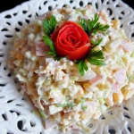 Salatka z Porow i Szynki