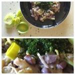 Salatka z pora, fasoli i ...