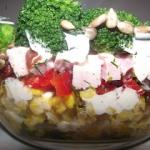 Jesienna salatka warstwow...