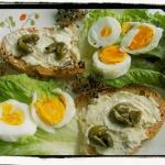 Kanapka jajeczna na ostro...