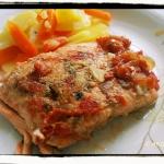 Łosos smazony w pomidora...