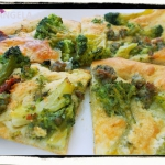Focaccia z brokułami i...