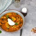 Zupa dyniowa z czarna fas...