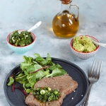 Stek z sosem chimi churri...