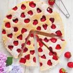 Ciasto migdalowe z truska...