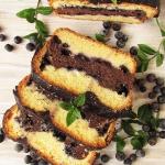 Dwukolorowe ciasto migdal...