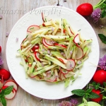 Salatka z kalarepy, rzodk...