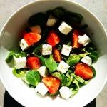 Salatka z roszponka i ser...