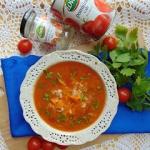 Zupa pomidorowa z platkam...
