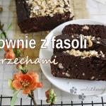 Brownie z fasoli z orzech...