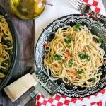 Spaghetti z czosnkiem i...