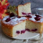 Ciasto serowe z wisniami