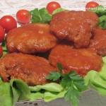 Kotlety w  sosie pomidoro...
