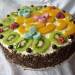 Tort brzoskwiniowo-smieta...