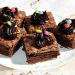 Brownie migdałowe