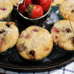 Muffiny z truskawkami,...