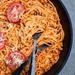 Spaghetti w sosie ze swie...