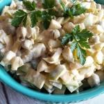 Salatka porowa z groszkie...