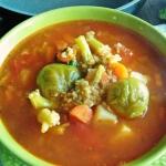 Zupa warzywna z kasza jag...