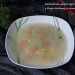 Zabielana zupa ogórkowa