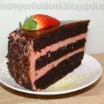 Tort czekoladowo-malinowy...