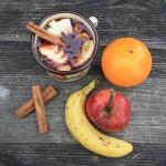 Domowy kisiel z owocami.