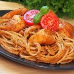 Spaghetti z pomidorowo - ...