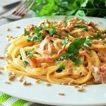Spaghetti z kurkami w...