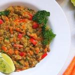 Warzywne curry z zielona ...
