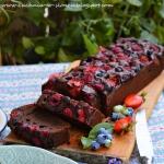 Brownie z owocami lesnymi...
