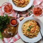 Spaghetti z krewetkami, c...