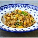 Makaron w sosie curry...