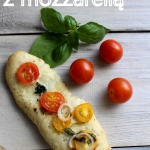 Focaccia z mozzarellą i...