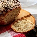Chleb jasny z miodem i...