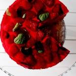 Malinowe ciasto na zimno...