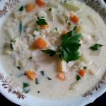 Zupa z kalarepą i ryżem
