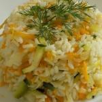 Ryz z cukinia i marchewka...