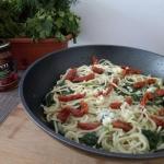 Spaghetti ze szpinakiem...
