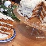 Zimowy tort marchewkowo...