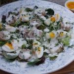 Salatka z jajem i biala k...