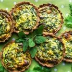 Mini tarty z zielonym...