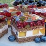 Ciasto mocno owocowe