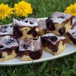Dwukolorowe ciasto na...