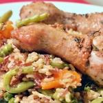 Kurczak pieczony na ryzu