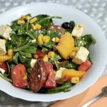 Salatka z chorizo i brzos...