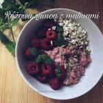 Rozowa quinoa z malinami