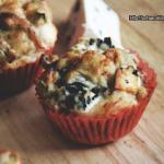 Serowe muffiny na słono