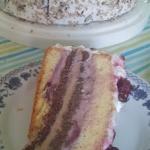 Tort z fruzelina wisniowa...