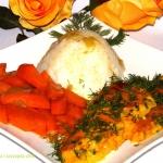 Sola w sosie curry z ryze...