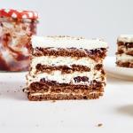 Ciasto czekoladowo agrest...